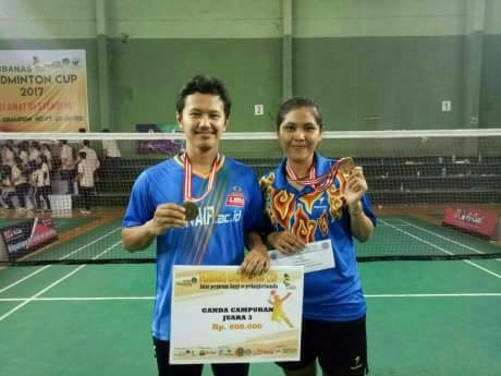 Won the 3rd Winner, Student Sociology Become a Star at Perbanas Badminton Cup 2017