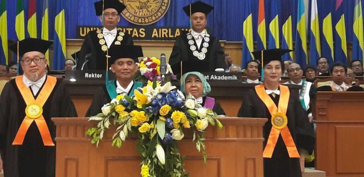 Two Professors of Sociology UNAIR Inaugurated