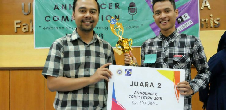 Maximally Applying His Sociological Competence, Firman Won Second Place of E-Radio Announcer Competition