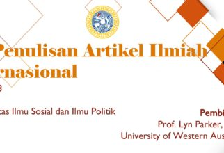 Workshop on Writing International Journals with Prof. Lyn Parker